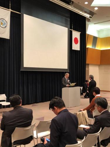 感謝状の表彰を受ける福島FICC世界大会実行委員長の松崎氏